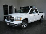 2006 Bright White Dodge Ram 1500 SLT Quad Cab #23712834