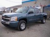 2009 Blue Granite Metallic Chevrolet Silverado 1500 LS Extended Cab 4x4 #23783825