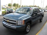 2010 Blue Granite Metallic Chevrolet Silverado 1500 LS Crew Cab #23786125