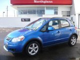 2007 Techno Blue Metallic Suzuki SX4 Convenience AWD #2369809