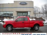 2010 Vermillion Red Ford F150 STX SuperCab 4x4 #23783108