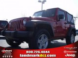 2010 Flame Red Jeep Wrangler Sport 4x4 #23790474