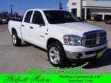 2008 Bright White Dodge Ram 1500 Lone Star Edition Quad Cab 4x4 #23793301