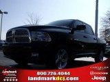 2010 Brilliant Black Crystal Pearl Dodge Ram 1500 SLT Crew Cab #23790511