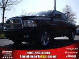 2010 Brilliant Black Crystal Pearl Dodge Ram 1500 SLT Crew Cab #23790501