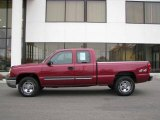 2004 Sport Red Metallic Chevrolet Silverado 1500 LS Extended Cab 4x4 #23856377