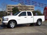 2008 Bright White Dodge Ram 1500 Big Horn Edition Quad Cab #23855848