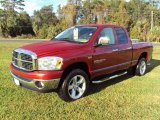 2007 Inferno Red Crystal Pearl Dodge Ram 1500 Thunder Road Quad Cab 4x4 #23861436