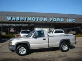 2006 Silver Birch Metallic Chevrolet Silverado 1500 Work Truck Regular Cab 4x4 #23917425