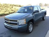 2009 Blue Granite Metallic Chevrolet Silverado 1500 LT Extended Cab #23924537