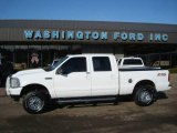 2004 Oxford White Ford F250 Super Duty Lariat Crew Cab 4x4 #23917424