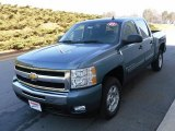 2009 Blue Granite Metallic Chevrolet Silverado 1500 LT Crew Cab #23924536