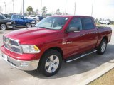 2010 Inferno Red Crystal Pearl Dodge Ram 1500 Big Horn Crew Cab #23914917