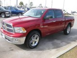 2010 Inferno Red Crystal Pearl Dodge Ram 1500 Big Horn Crew Cab #23914927