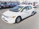 2007 Taffeta White Honda Civic LX Sedan #23921561