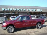2006 Dark Toreador Red Metallic Ford F150 XLT SuperCab 4x4 #23917438