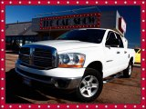 2006 Bright White Dodge Ram 1500 SLT Quad Cab 4x4 #24101375