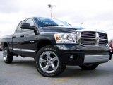 2008 Brilliant Black Crystal Pearl Dodge Ram 1500 SLT Quad Cab 4x4 #24091438