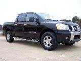 2007 Galaxy Black Nissan Titan SE Crew Cab 4x4 #24147081