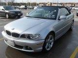 2004 Titanium Silver Metallic BMW 3 Series 325i Convertible #24140963