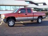 2001 Sunset Orange Metallic Chevrolet Silverado 1500 LS Extended Cab 4x4 #24138674