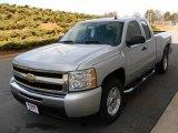 2010 Sheer Silver Metallic Chevrolet Silverado 1500 LT Extended Cab 4x4 #24146452