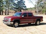 2005 Sport Red Metallic Chevrolet Silverado 1500 Z71 Crew Cab 4x4 #24136737