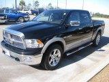 2010 Brilliant Black Crystal Pearl Dodge Ram 1500 Laramie Crew Cab #24136925