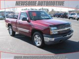 2005 Sport Red Metallic Chevrolet Silverado 1500 LS Regular Cab #24208771