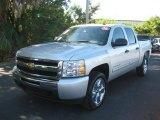 2010 Sheer Silver Metallic Chevrolet Silverado 1500 LT Crew Cab #24191243
