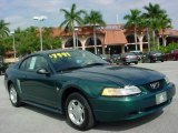 2000 Amazon Green Metallic Ford Mustang V6 Coupe #24191993