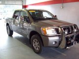 2007 Smoke Gray Nissan Titan LE Crew Cab 4x4 #24183530