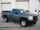 2008 Blue Granite Metallic Chevrolet Silverado 1500 Work Truck Regular Cab 4x4 #24187704
