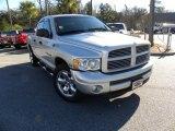 2004 Bright Silver Metallic Dodge Ram 1500 Laramie Quad Cab #24199564