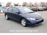 2007 Royal Blue Pearl Honda Civic EX Sedan #24184681
