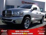 2008 Bright Silver Metallic Dodge Ram 1500 Big Horn Edition Quad Cab #24195678