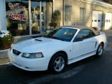 2001 Oxford White Ford Mustang V6 Convertible #24264246
