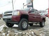 2008 Deep Ruby Metallic Chevrolet Silverado 1500 LT Extended Cab 4x4 #24260989