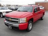 2010 Victory Red Chevrolet Silverado 1500 LT Extended Cab 4x4 #24272060