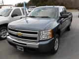 2010 Blue Granite Metallic Chevrolet Silverado 1500 LT Extended Cab #24272064