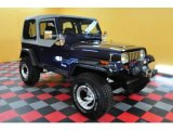 Jewel Blue Pearl Metallic Jeep Wrangler in 1992