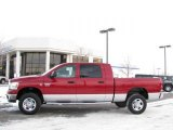 2007 Inferno Red Crystal Pearl Dodge Ram 3500 SLT Mega Cab 4x4 #24328217