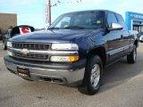 2002 Indigo Blue Metallic Chevrolet Silverado 1500 LS Extended Cab 4x4 #24363463