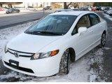 2007 Taffeta White Honda Civic LX Sedan #24363527
