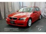 2007 Crimson Red BMW 3 Series 328xi Wagon #24387443