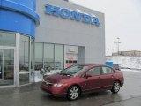 2007 Tango Red Pearl Honda Civic LX Sedan #24387604
