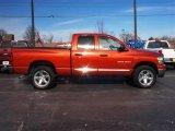 2007 Sunburst Orange Pearl Dodge Ram 1500 Big Horn Edition Quad Cab 4x4 #24387471