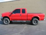 2002 Red Clearcoat Ford F250 Super Duty XL SuperCab #2436957