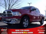 2009 Flame Red Dodge Ram 1500 Big Horn Edition Crew Cab #24387739