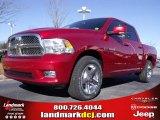 2010 Inferno Red Crystal Pearl Dodge Ram 1500 SLT Crew Cab #24387777
